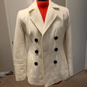 Cream pea coat from Guess